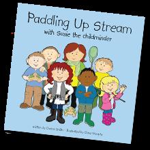 Susie Paddling Up Stream