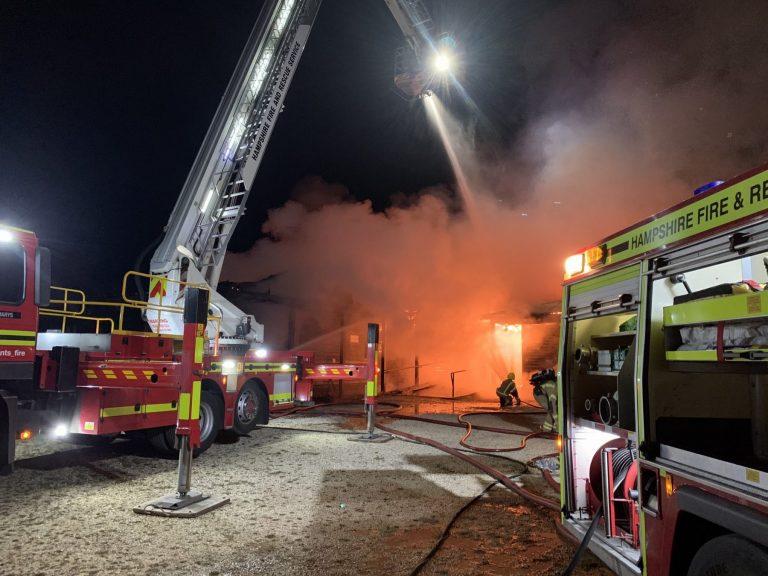 East Boldre community hall fire